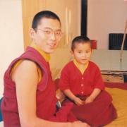 H.E. Tsem Tulku Rinpoche with H.H. Ling Rinpoche in Bodhgaya