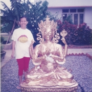 5ft Chenrezig statue offered by Tsem Tulku Rinpoche