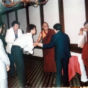 H.E. Tsem Tulku Rinpoche meeting H.H. the Dalai Lama in Los Angeles, asking to be a monk