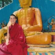 尊贵的詹杜固仁波切摄于尼泊尔加德满都斯瓦杨布纳特