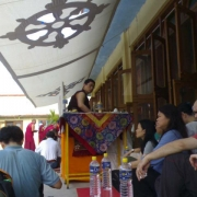 H.E. Tsem Tulku Rinpoche returning to Gaden Monastery in 2006 with 62 pilgrims