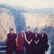 H.E. Tsem Tulku Rinpoche with friends and students visiting Jog Falls, India