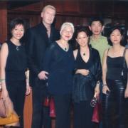 H.E. Tsem Tulku Rinpoche meeting famous Malaysian singer Anita Sarawak with friends