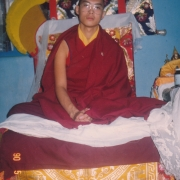 H.E. Tsem Tulku Rinpoche enthroned officially as reincarnated lama in Gaden Shartse in 1990