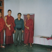 H.E. Tsem Tulku Rinpoche with his father (in lay clothes)