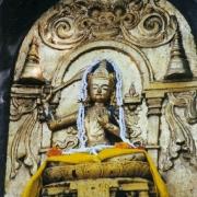 菩提迦耶的文殊菩萨像