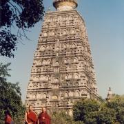 H.E. Tsem Tulku Rinpoche with his guru H.E. Kensur Jampa Yeshe Rinpoche at Bodhgaya