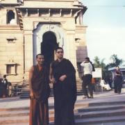 H.E. Tsem Tulku Rinpoche in India with friend Pasang Gelek