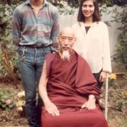 H.E. Tsem Tulku Rinpoche with his root guru Kyabje Zong Rinpoche and a friend in LA