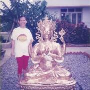 5ft Chenrezig statue offered by Tsem Tulku Rinpoche