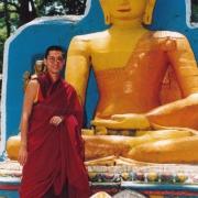 H.E. Tsem Tulku Rinpoche in Swayambunath, Kathmandu, Nepal