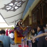 H.E. Tsem Tulku Rinpoche returning to Gaden Monastery in 2006 with 62 pilgrims