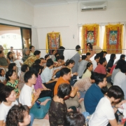 H.E. Tsem Tulku Rinpoche giving initiation in Malaysia. Around 550 people attended the initiation
